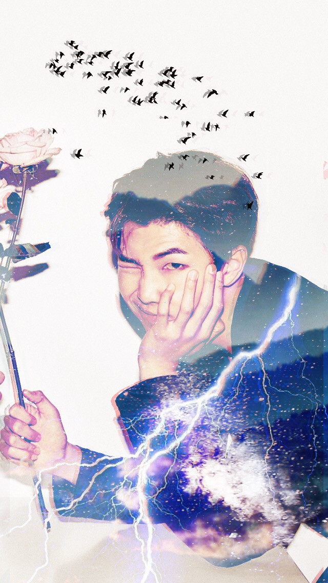 """SORRY I HAVENT BEEN ACTIVE SCHOOL IS TAKING OVER OMGGG!! (ive never been this unmotivated or unfocused in my life rippppp) HERES A NAMJOONIE EDIT!:) 💕💕💕     """"many things were going through my head..."""" 💫   #bts #kpop #btsedit #kpopedit #kpopidol #suga #yoongi #jimin #jin #v #taehyung #jungkook #rapmonster #namjoon #jhope #blue #night #birds #nature #lightning"""