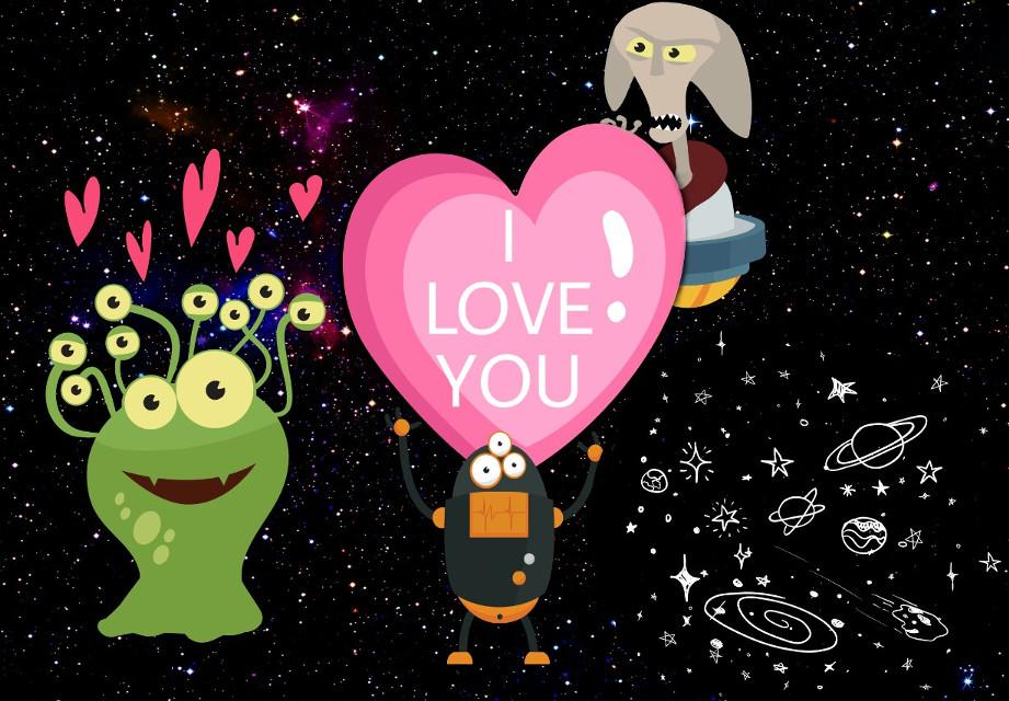 #cute #alienstickers #love #justforfun 😊✌❤
