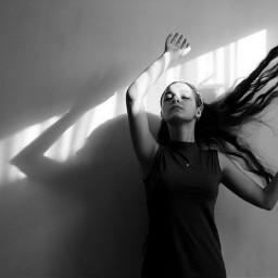 portrait photography blackandwhite angel shade