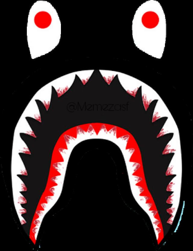 #bloody #bape #logo #teeth #shark #supreme #bathingape #memezasf