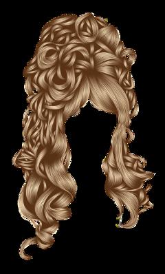 wig hair curls blonde head freetoedit