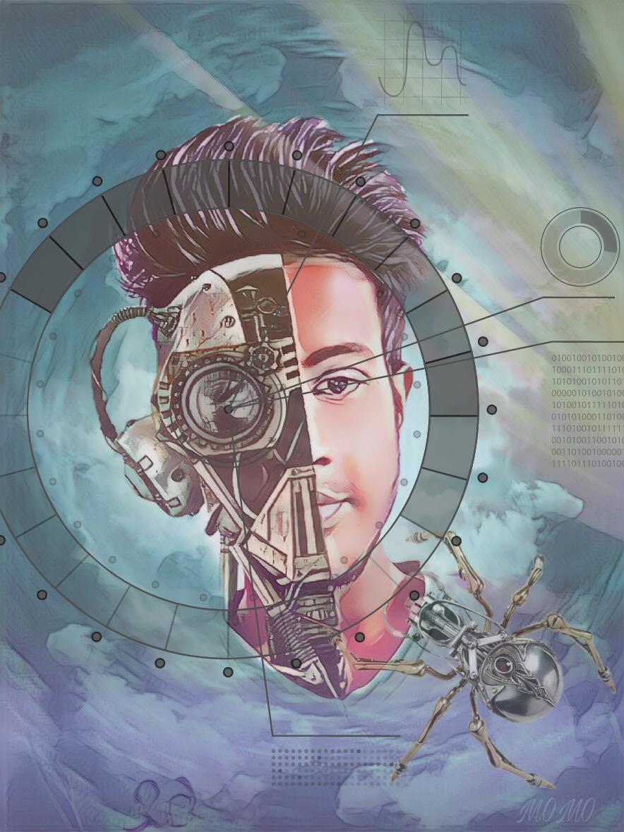 #fantasyart #artisticselfie #robot #myartwork