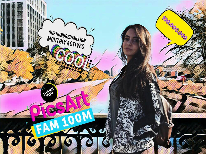 Yay 100M creators!❤ Love this community❤ #popart #100M #picsart #editedwithpicsart #magiceffects #loveit #stickers #happiness