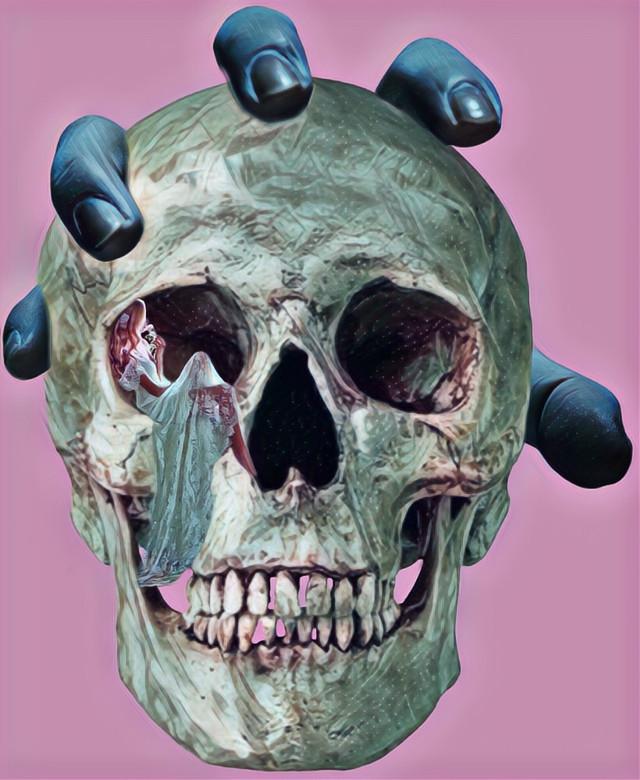 #freetoedit #skull #hand #woman #miniature