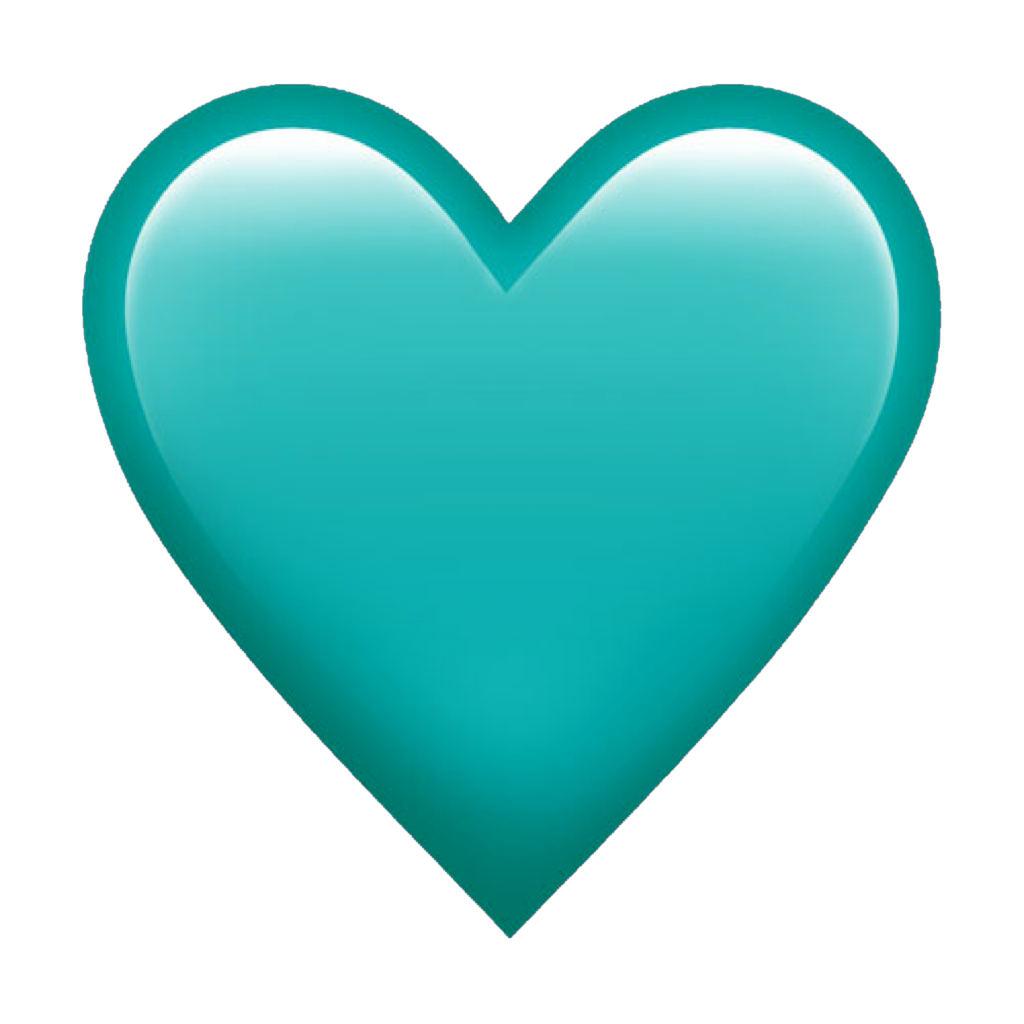 Image result for aqua heart emoji