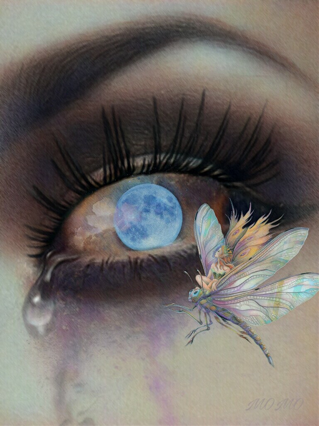 #moonstickerremix #surreal #eyes #myartwork