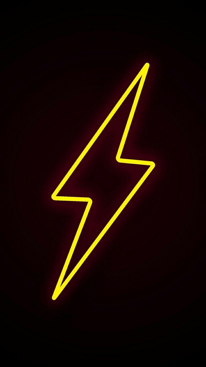 Lightning Yellow Black Wallpaper