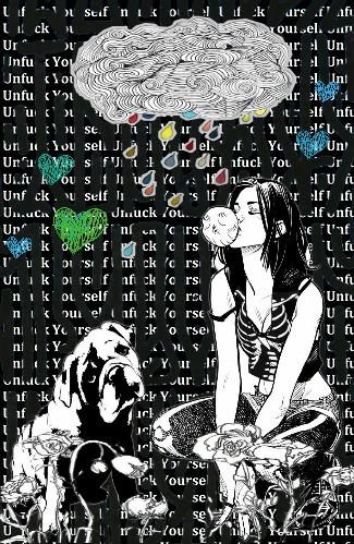 #collage#blackandwhite#dog