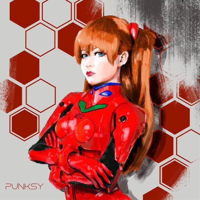 #punksy #artist #painter #illustrator #evangelion #retroanime #retrowave #animeart #animedrawing