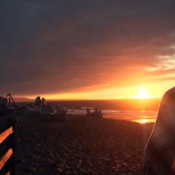 beach sunset beachsunset blanket bonfire freetoedit