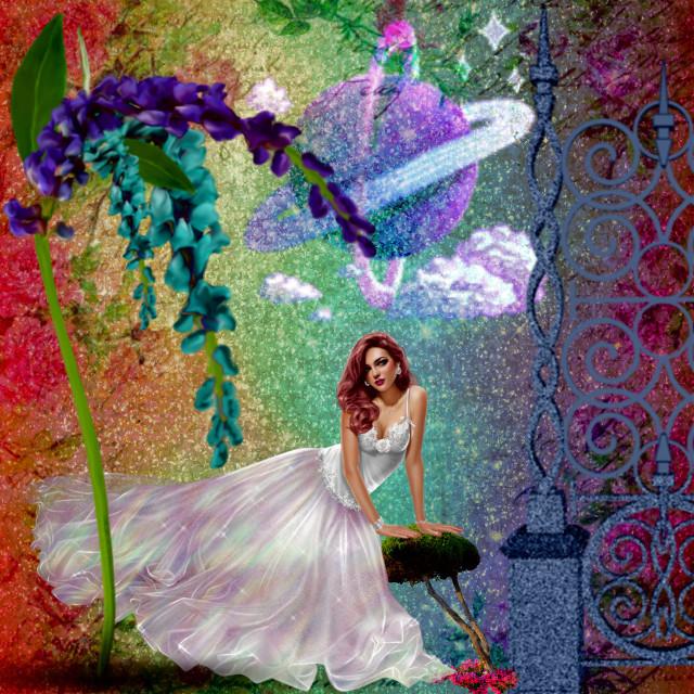 #glitter #flower #glitterbackground #lady