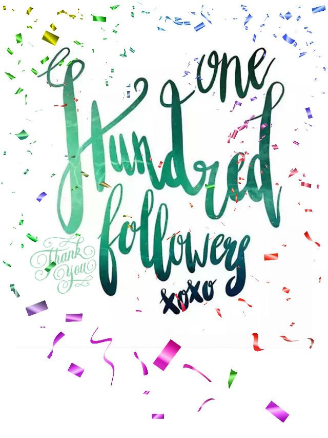 ❤❤Yay!!!! 😀😀I finally got 100 Followers❤ 🅣🅗🅐🅝🅚 🅨🅞🅤  ❤❤#freetoedit #100 followers #100followers #thankyou #ilovemyfollowers #100 #ftestickeredited #yay #happy #love #picsart #picsartframes #newtopa #currently #thishappened #ilovehashtags #icantdraw #lol #positivevibes #peace #blessings