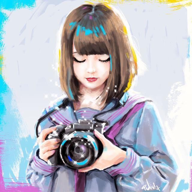 #punksy #artist #painter #illustrator #animeart #animedrawing #asiangirl #canvas #inspiration