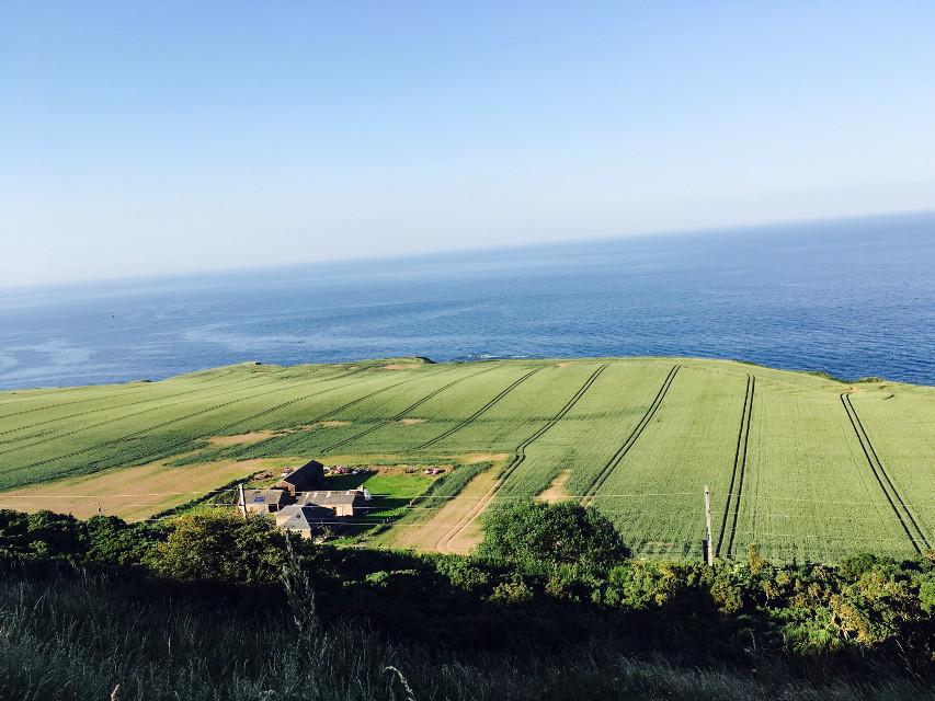 #dpcfields #freetoedit #fields #sea #scotland #interesting #house #myphoto #amazing #view #海边田园