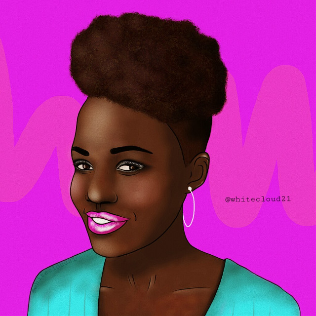 #mydrawing #madewithpicsart #drawing #girl #lupitanyongo #actress #celebrity #drawnbyme #picsart #purple #pink #lightblue #myart #creativity #afrohair #beautiful @pa