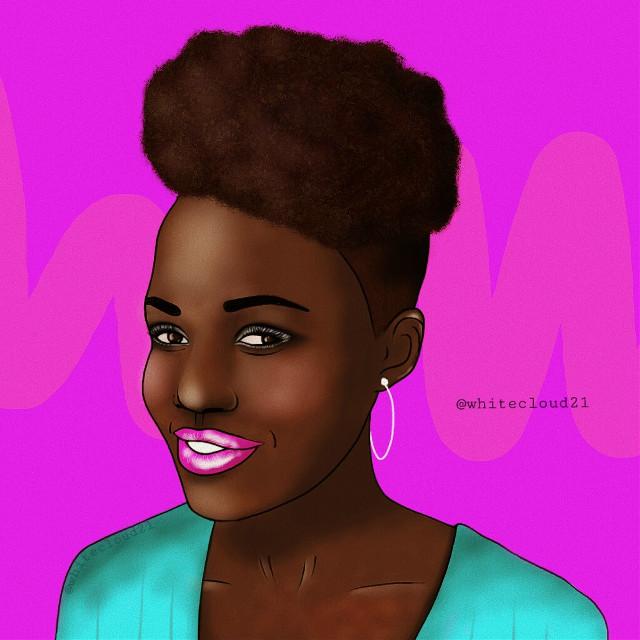 #mydrawing #madewithpicsart #drawing #girl#drawnbyme #picsart #creativity #afrohair  @pa