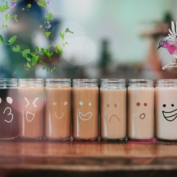 freetoedit coffe milk smile bird