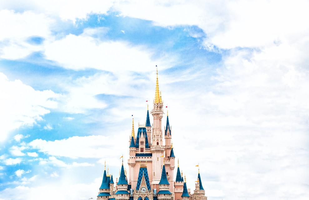 You will never be too old for remixing or for Disney! Stocksnap (Public Domain) #FreeToEdit #disneyland #cinderella #waltdisney #castle #peaks #clouds #imagination #amusementpark #sky #urban