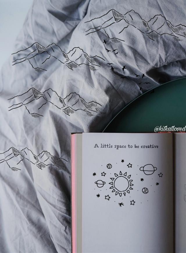 The Peak of Creativity! 🗻#freetoedit #mountains #creativity #doodles
