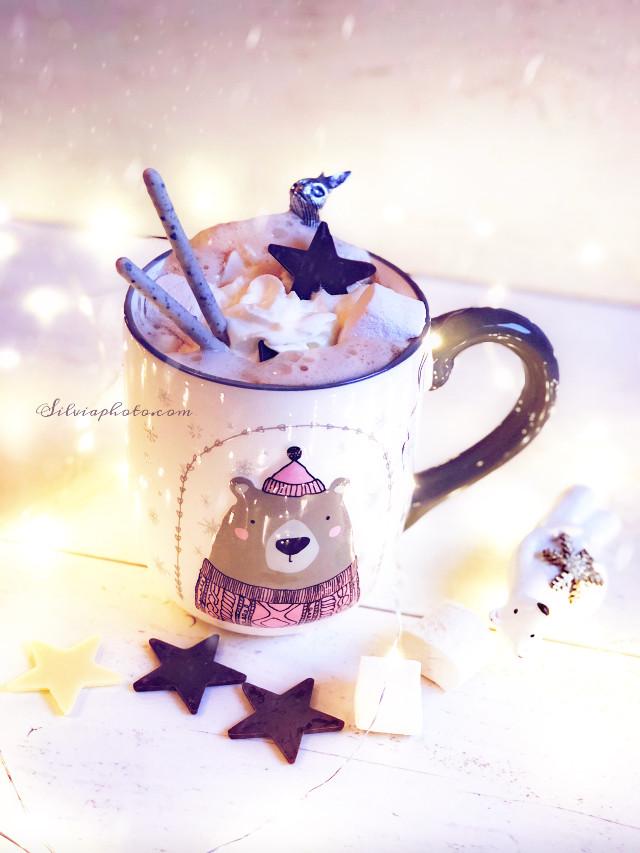 Hello Monday #mondaymorning #coffeecup #coffetime #snowflakes #snowflakesoverlay #teddybear #wintercoming #babyiscoldoutside #chocholate #stars #marshmallows #hotchocolate #photography #november #helloworld #polishgirl