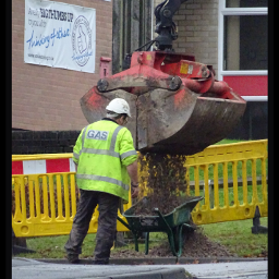 photography gas man wheelbarrow lorry