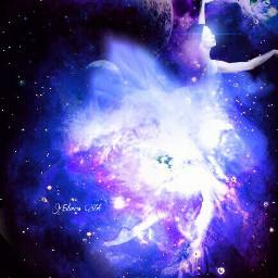 surreal space dance magic dancing freetoedit