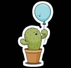 freetoedit ballon cactus blue green
