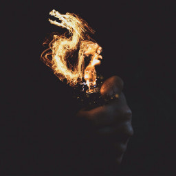 madewithpicsart edited surreal dragon fire