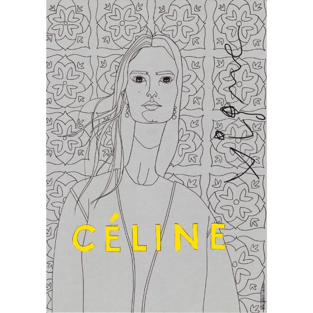 Fashion collage based on Céline 2015 Campaign by Rocio Vigne