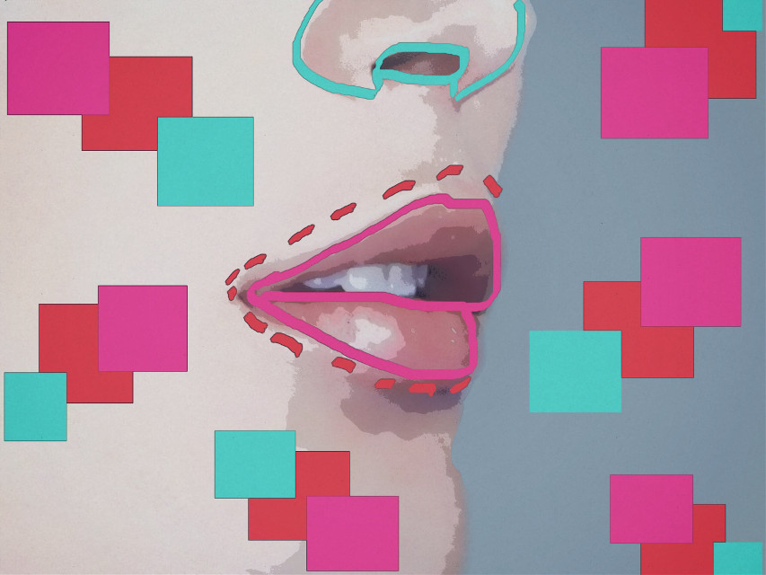 FEATURED! Thank you @pa :) #freetoedit #colorfuloutline #outlines #shapes #square #colours #lips #ecoutlines