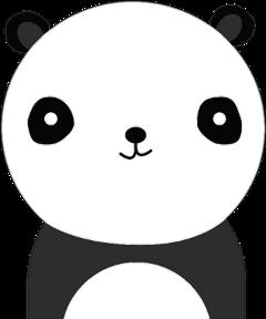 freetoedit panda black white blackandwhite