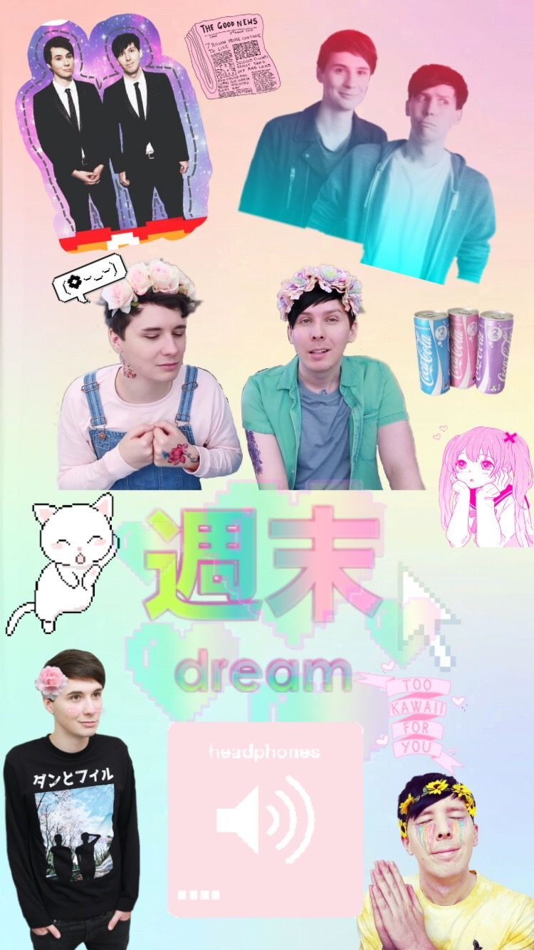Freetoedit A Pastel Dan And Phil Wallpaper For Gerardw