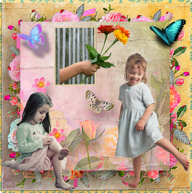 #colorful #butterfly #girls #flowers