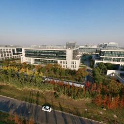 shanghai office zhangjiang morning autumn