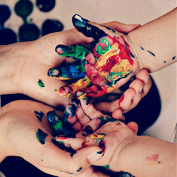 colorful hands painting loveart littlehands pcholdinghands pccolorful freetoedit