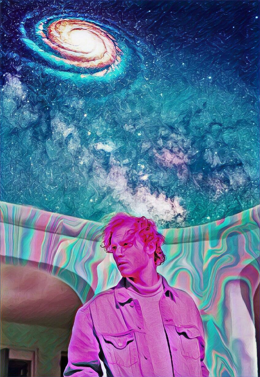 #galaxy #men #stars #hologram #magiceffects #pink #universe #surreal #pink