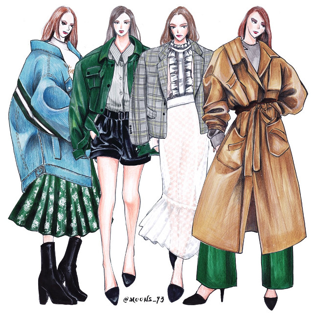 Seoul clothing Company 'Nukara' 2018 fashion Collaboration work. *Do not repost/use* (Copyright Nukara company, Moons_93 all right reserved.)