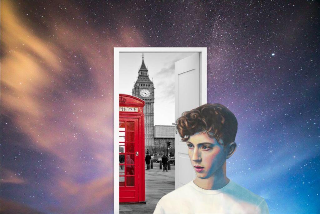 #art #door #city #red #man #galaxy #surreal #pa #picsart