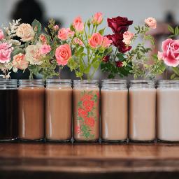 freetoedit picsart art roses cofee