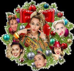 mileycyrus wreath christmas freetoedit