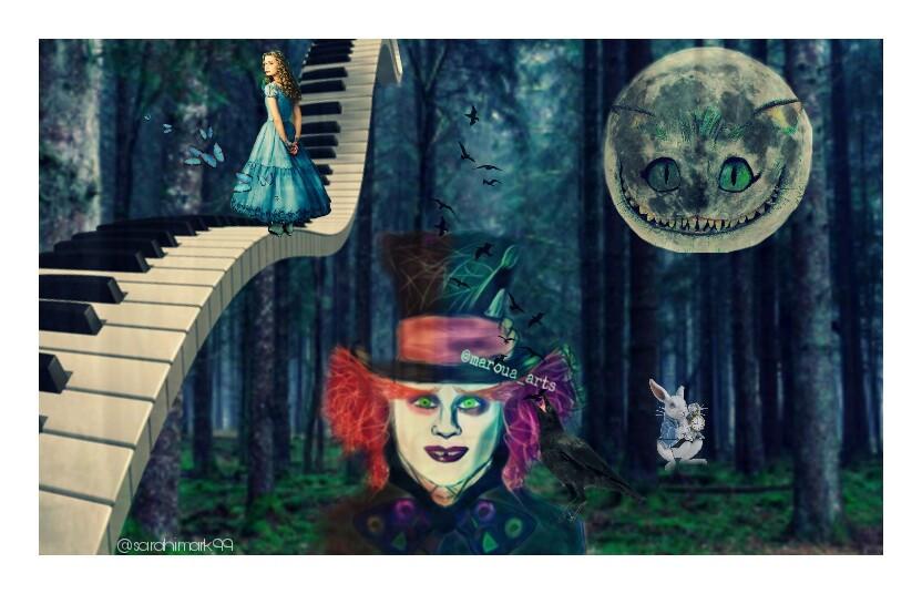 . #aliciaenelpaisdelasmaravillas #sombrerero #imaginacion #magia #bosque