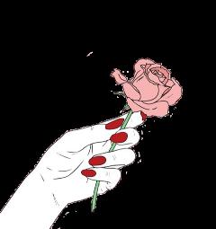 freetoedit rose tumblr hand nails