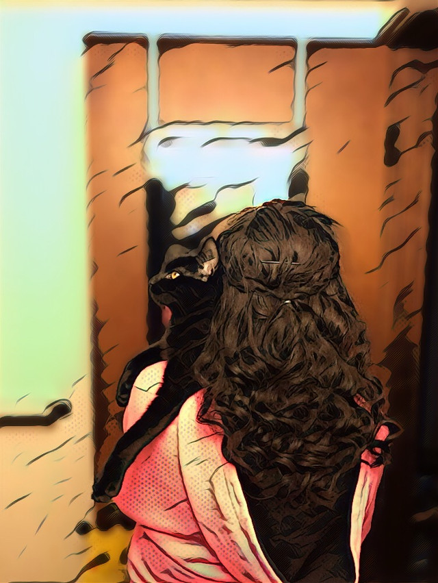 #crazycatlady #cat #love #cute #animalover #hair #braids #halfuphair #braidsfordays #catsofpicsart #catlove #caturday