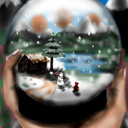 drawing art digitalart mydrawing snowglobe dcsnowglobe