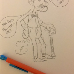 quirky cartoon character oldfart