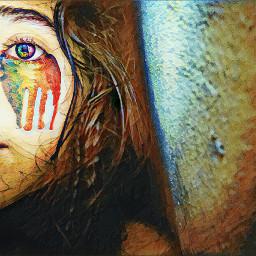 vintage colorful eye