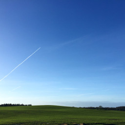 nature field germany sky blue