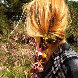 freetoedit pcgoodhairday goodhairday hair blonde pcflowers pclonghairdon pcbraids pcawesomehairdo pchalffaced halffaced
