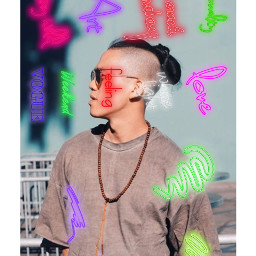 neon neonboy asian art graphicart