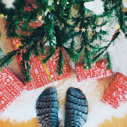 christmas tree christmastree presents socks freetoedit